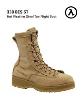 BELLEVILLE 330 DES ST HOT WEATHER TAN STEEL TOE FLIGHT BOOTS * ALL SIZES - NEW