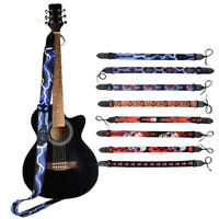 Fashion Guitar Strap with Leather End for Acoustic Guitar Bass Electric Guitar