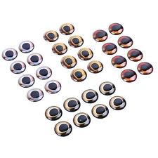 EG _ 20 stk. 7-15mm 4D Fliegenfischen Köder Augen binden Jig Gerät Puppen
