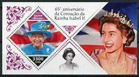 Guinea-Bissau Royalty Stamps 2018 MNH Queen Elizabeth II Coronation 1v S/S