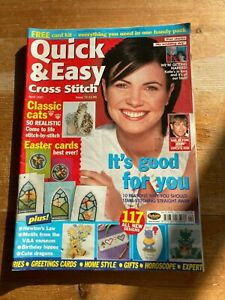 QUICK AND EASY CROSS STITCH MAGAZINE ISSUE 72 APRIL 2001