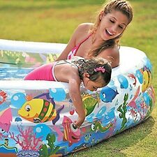 Jilong Sea World Cuadrado Piscina para Niños con Estampado Animal Mar Divertido 57x57x17.5""