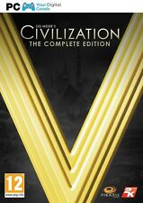 Sid Meier's Civilization V 5 Complete Edition PC MAC [BRAND NEW STEAM KEY]