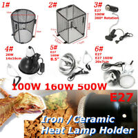 6 Type Black Heat Lamp Light Bulb Heat Guard Cage Anti-Hot Shade Set for Reptile