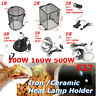6 Type Black Heat Lamp Light Bulb Heat Guard Cage Anti-Hot Shade Set for Reptile
