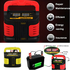 350W 35Ah-200Ah LCD 3-Stage Car Battery Charger 12-24V Auto Jump Starter Booster