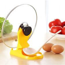 Creative Pan Pot Cover Spoon Lid Rack Rest Stand Holder Kitchen Utensil Set