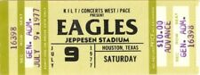 Eagles 1977 Hotel California Tour Jeppesen Stadium Unused Houston Ticket / Nmt