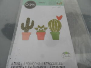 Sizzix THINLETS 661700   CACTI  Debi Potter  BIG SHOT Cutting Die  Paper Crafts