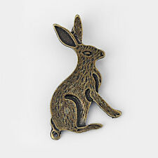 10pcs Antique Bronze Rabbit Hare Bunny Charms Pendants Jewelry Findings
