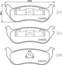 Mintex Rear Brake Pad Set MDB2537  - BRAND NEW - GENUINE - 5 YEAR WARRANTY
