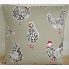 """NEW 16"""" Cushion Cover Chickens Hens Roosters Chooks Chucks Chicks Sage Green"""