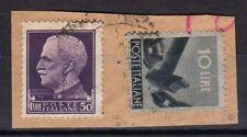 STORIA POSTALE LUOGOTENENZA 1945-6 Frammento Imperiale 50L USATO
