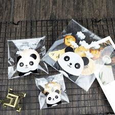 Biscuits Packaging Candy Bag Plastic Cookie Pocket Panda Self-Adhesive