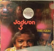 THE JACKSON  5 LP 3RD ALBUM RARE SHRINK WITH MAMA'S PEARL HYPE NM