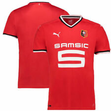 Maillots de football de clubs français rouges, taille S, pour homme