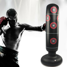 Adult Inflatable Punching Bag Free Standing Boxing Post Kids Fitness Training