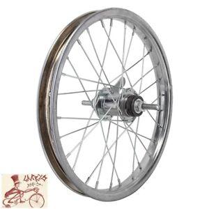"""WHEELMASTER  COASTER BRAKE 16"""" x 1.75"""" CHROME BICYCLE REAR WHEEL"""