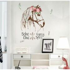 Horse Head Personality Wall sticker Removable DIY Boho Room Decor Decal Bedroom