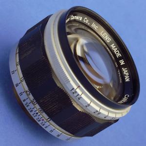 Canon 50mm 1.2 LTM Rangefinder Lens