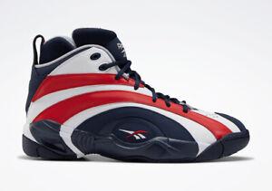 Reebok Shaqnosis USA Men's Size 8-10 Red White Blue Basketball Shoes FV2971