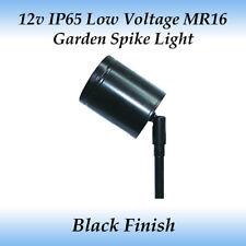 LED Compatible 12 Volt IP65 Outdoor Adjustable Spike Light in Black