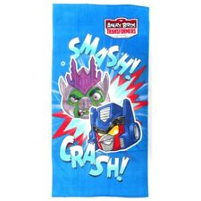 Boys Official Angry Birds Transformers Bath Beach Holiday Swim Cotton Towel