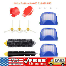 Replacement Parts for iRobot Roomba 600 610 620 650 614 618 Vacuum Filter Brush