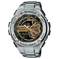 CASIO G-SHOCK G-STEEL MENS WATCH GST-210D-9A METAL BAND BLACKxGOLD GST-210D-9ADR
