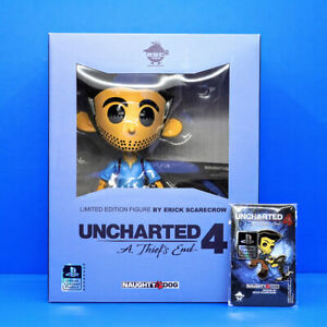 "Uncharted 4 Nathan Drake Vinyl Figure Statue 8"" + DLC Skin & Brass Pin Sony PS4"