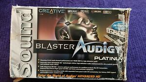 Creative Sound Blaster Audigy Platinum Sound Card (7.1) complete