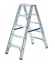 Krause 124739 STABILO Stufen-DoppelLeiter 2 x 5 Stufen Doppel Leiter 1,20 m