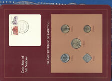 Coin Sets of All Nations Pakistan w/card UNC 1 Rupee 50,20,10,5 Paisa 1984