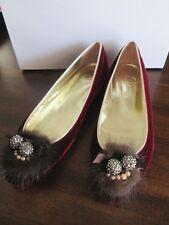 MARTINA TAGLIAFERRO Dee Keller VELVET FLAT 36 Shoe FIRENZE Hand Made ITALY NEW 6