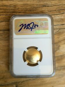2014 Gold $5 NGC PR70  MIKE TROUT AUTO SIGNED Baseball Hall of Fame Proof JSA