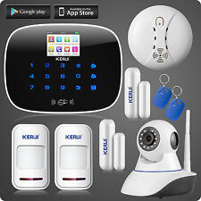 G19 Wireless GSM Home House Security Intrude Burglar Alarm System Kit,IP Camera