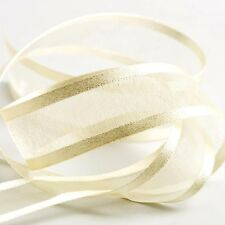 Satin Edge io Organza Sheer Chiffon Ribbon - Choose Colour, Width and Length