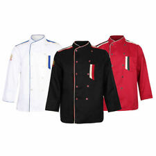 Chef Coat Jacket Uniform Clothes Long Sleeve With