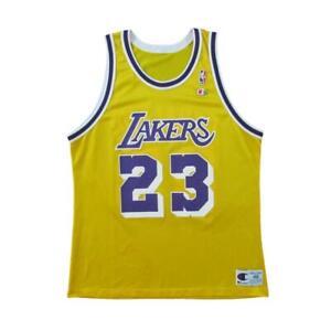 Los Angeles Lakers Cedric Ceballos Basketball Champion Jersey Sz 48
