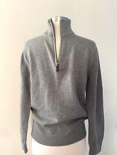 New JCrew Slim Cotton-Cashmere half-Zip Sweater Sz small Grey A9110