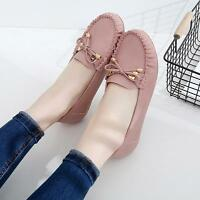 Mary Jane Womens Cute Round Toe Slip On Moccasin Loafers Casual Flats Shoes NEW