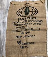 BURLAP BAG / GUNNY SACK San Vicente Product Of Honduras ARABICA COFFEE