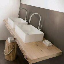 Mensola Sospesa Per doppio Lavabo Design, arredo bagno, bordo irregolare