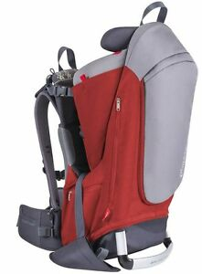 Phil & Teds Escape Child Backpack Carrier Red / Grey NEW