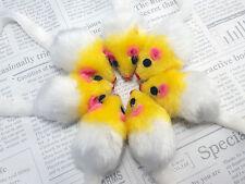 6 x Cat toys Fur Mice Bite Size Chew Doll With Sound Rattling + Free Catnip UK