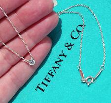 Tiffany & Co Elsa Peretti Aquamarine Colour By The Yard Silver Pendant Necklace