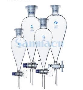 30-1000ml #19 #24 #29 Borosilicate Glass Pear Separatory Funnel PTFE/Glass Tap