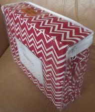 Majestic Red/White Chevron 300TC 3Pc XLTwin Sheet Pillowcase Set Dorm/College
