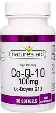 Natures Aid-Co enzima Q10 Co-Q-10 100mg X 30 cápsulas blandas