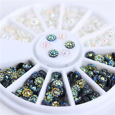 3D Nail Art Decoration Resin 4mm Round Flat Bottom Manicure Decor Tips DIY